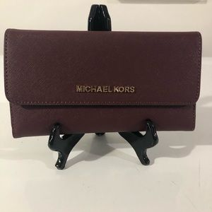 Michael Kors Large Trifold Leather Wallet NWT